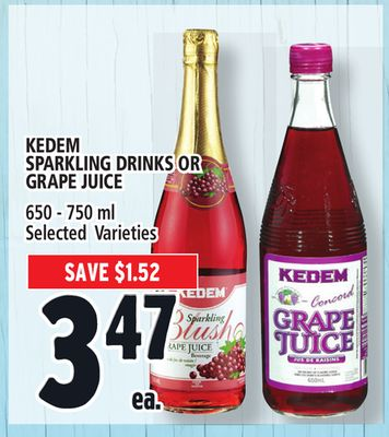 Kedem Sparkling Drinks Or Grape Juice