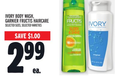 Ivory Body Wash - Garnier Fructis Haircare