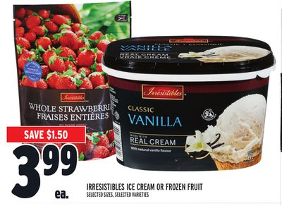 Irresistibles Ice Cream Or Frozen Fruit
