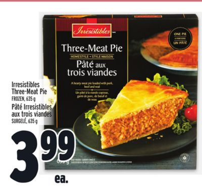 Irresistibles Three-meat Pie