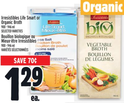 Irresistibles Life Smart or Organic Broth