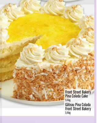 Front Street Bakery Pina Colada Cake