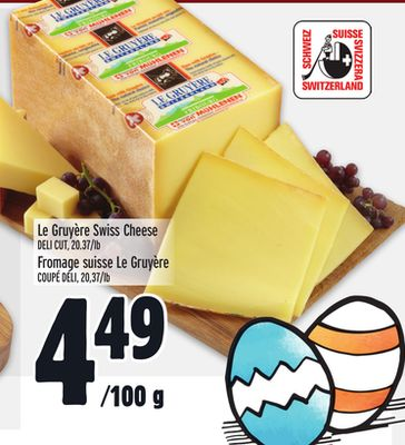 Le Gruyère Swiss Cheese