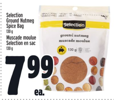 Selection Ground Nutmeg Spice Bag