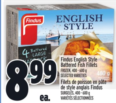 Findus English Style Battered Fish Fillets