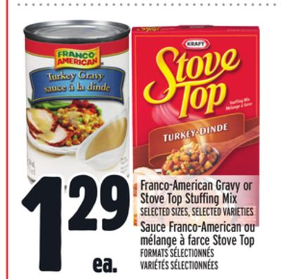 Franco-american Gravy or Stove Top Stuffing Mix
