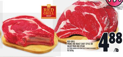Red Grill Prime Rib Roast Chef Style Or Value Pack Rib Steak