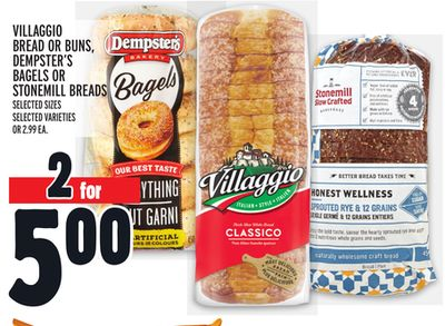 Villaggio Bread Or Buns - Dempster's Bagels Or Stonemill Breads