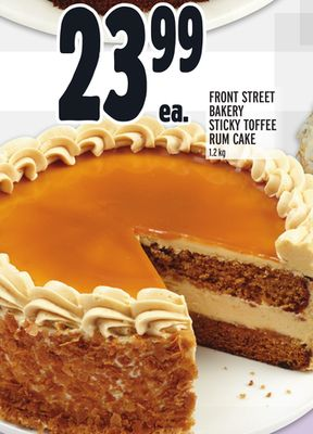 Front Street Bakery Sticky Toffee Rum Cake