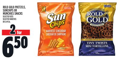 Rold Gold Pretzels - Sunchips Or Munchies Snacks