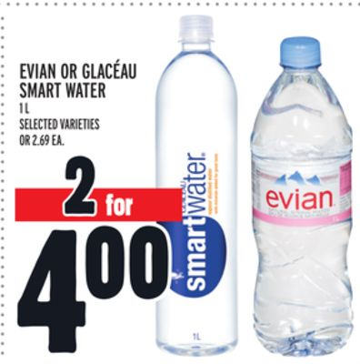 Evian Or Glacéau Smart Water