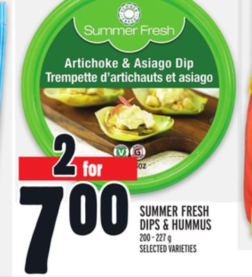 Summer Fresh Dips & Hummus