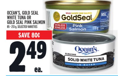 Ocean's - Gold Seal White Tuna Or Gold Seal Pink Salmon