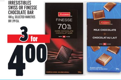 Irresistibles Swiss Or Finesse Chocolate Bar