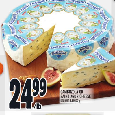Cambozola Or Saint Agur Cheese