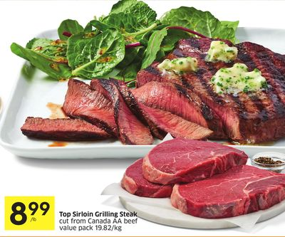 Top Sirloin Grilling Steak on sale | Salewhale.ca