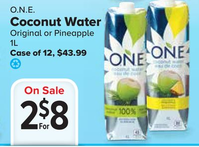 O.n.e. Coconut Water on sale | Salewhale.ca