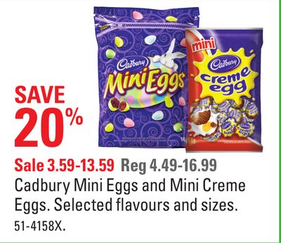 Cadbury Mini Eggs and Mini Creme Eggs on sale | Salewhale.ca