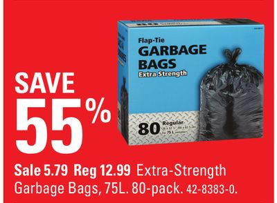 Extra-strength Garbage Bags - 75l