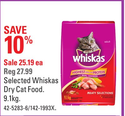 Selected Whiskas Dry Cat Food
