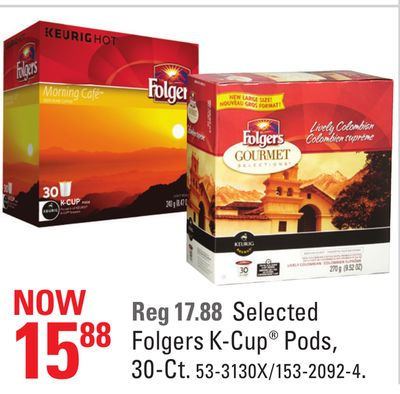 Selected Folgers K-cup Pods - 30-ct