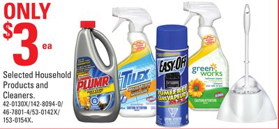 Selected Household Products and Cleaners.