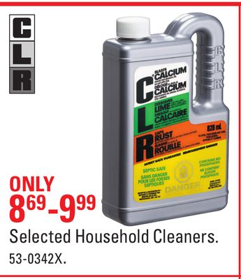 Selected Household Cleaners