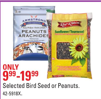 Selected Bird Seed or Peanuts