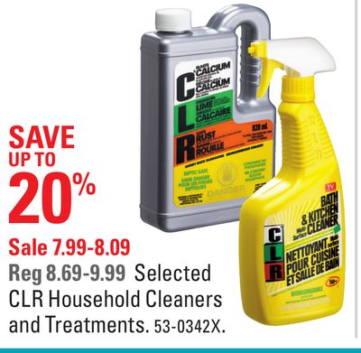 Selected Clr Household Cleaners and Treatments