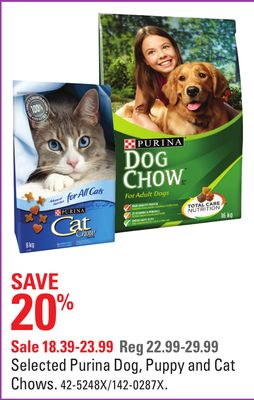 Selected Purina Dog - Puppy and Cat Chows