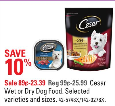 Cesar Wet or Dry Dog Food