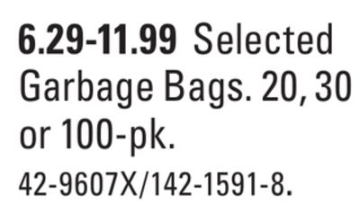 Selected Garbage Bags