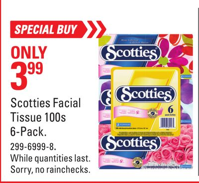 Scotties Facial Tissue 100s 6-pack