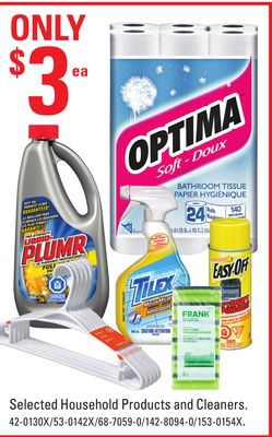 Selected Household Products and Cleaners