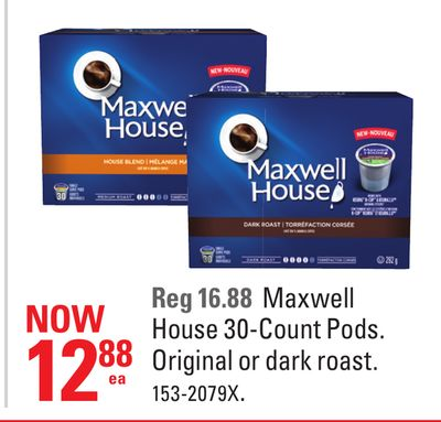 Maxwell House 30-count Pods