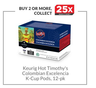 Keurig Hot Timothy's Colombian Excelencia K-cup Pods - 12-pk