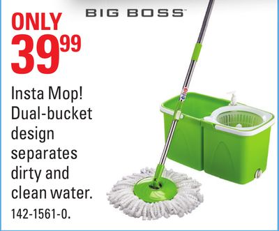 Insta Mop! Dual-bucket Design Separates Dirty and Clean Water