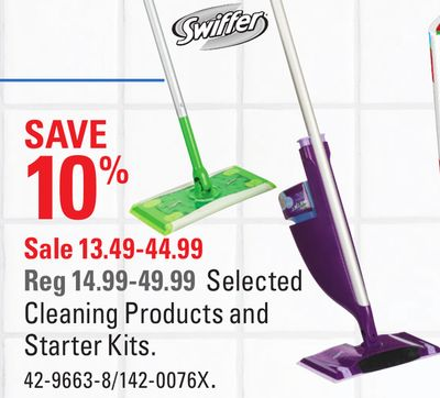 Selected Swiffer Cleaning Products and Starter Kits