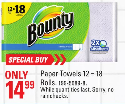 Special Buy Paper Towels 12 = 18 Rolls