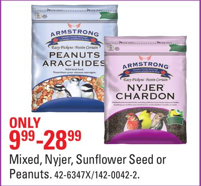Mixed - Nyjer - Sunflower Seed or Peanuts