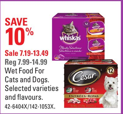 Wet Food For Cats and Dogs