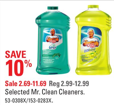 Selected Mr. Clean Cleaners