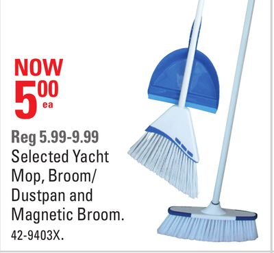 Selected Yacht Mop - Broom/ Dustpan and Magnetic Broom