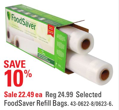 Selected Foodsaver Refill Bags