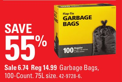 Garbage Bags - 100-count