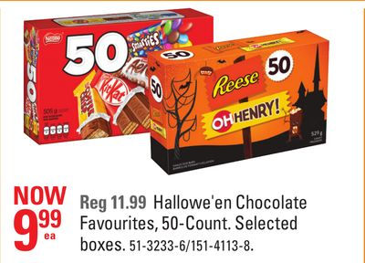 Hallowe'en Chocolate Favourites - 50-count