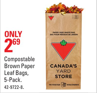 Compostable Brown Paper Leaf Bags
