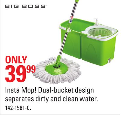 Big Boss Insta Mop! Dual-bucket Design Separates Dirty and Clean Water