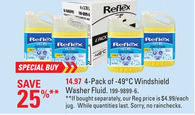 4-pack of -49°c Windshield Washer Fluid