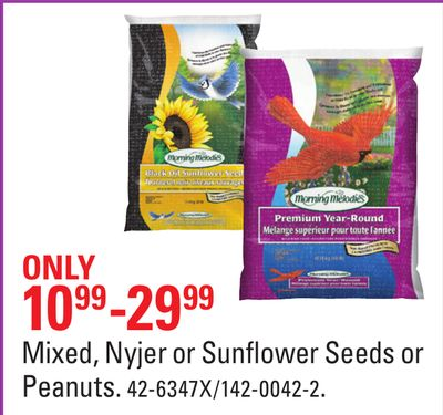 Mixed - Nyjer or Sunflower Seeds or Peanuts